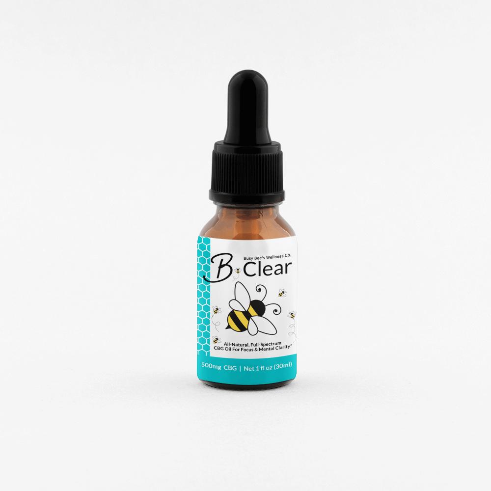 Busy Bee's B-Clear CBG Oil Tincture for Brain & Gut Health