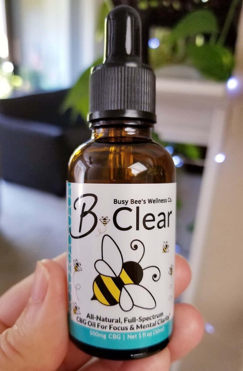 Busy Bee's B-Clear CBG Oil for brain and gut health